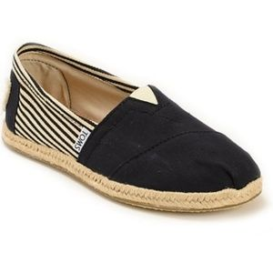 Toms Stripe University Classic Rope Shoes Flats